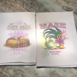 Mardi Gras ⚜️ Kitchen Towels ⚜️ King Cake and Mask